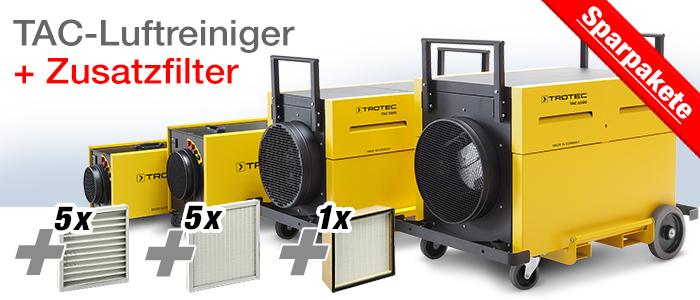 TAC Luftreiniger + Filterpakete
