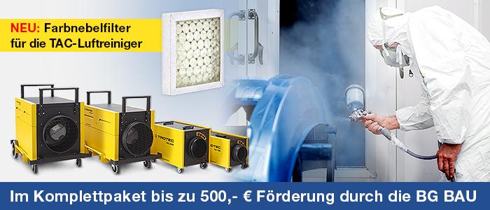 Farbnebelfilter für die TAC Luftreiniger - NEU