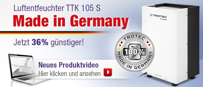 Trotec Luftentfeuchter TTK 105 S - Produktvideo