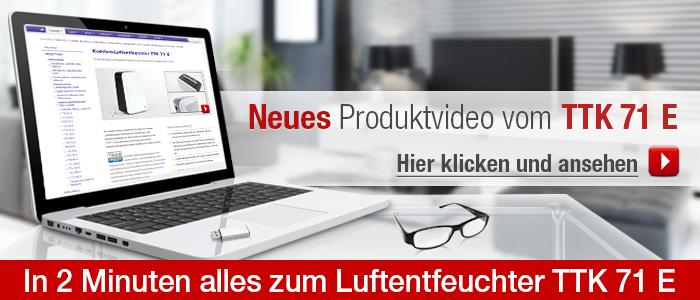 Neues Produktvideo über den Luftentfeuchter TTK 71 E
