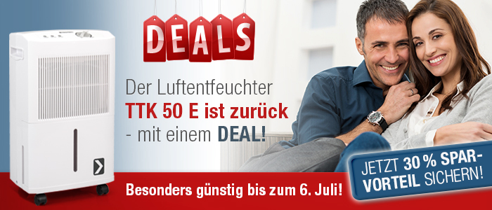 Trotec Luftentfeuchter TTK 50 E Deal