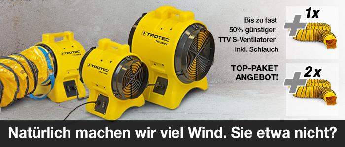 TTV-S Ventilatoren + Luftschlauch SP-V