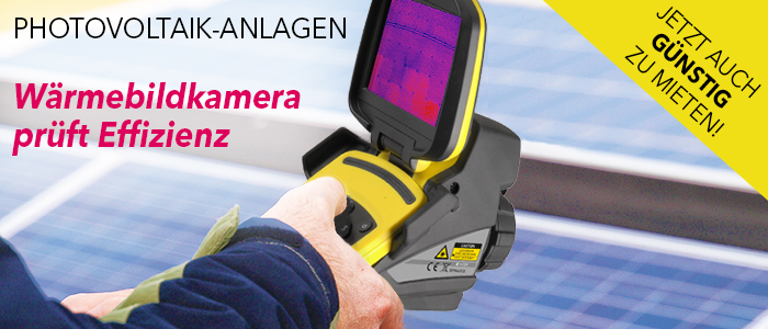 Überprüfung der Photovoltaik-Anlage mit der Wärmebildkamera