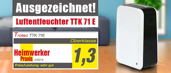 Testbericht Trotec Luftentfeuchter TTK 71 E