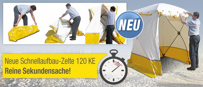 Neue Schnellaufbau-Zelte 120 KE