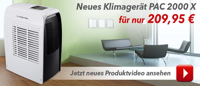 Das neue Klimagerät PAC 2000 X – jetzt im Produktvideo