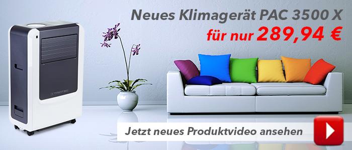 Neues Klimagerät PAC 3500 X - Produktvideo