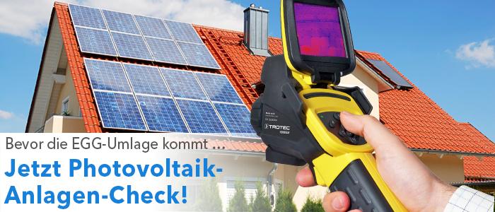 Jetzt Photovoltaikanlagen-Check