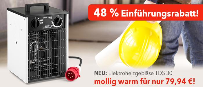 Elektroheizer TDS 30 Einführungsrabatt