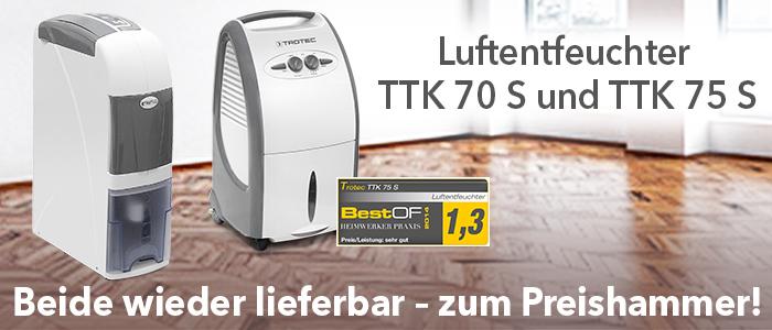 Luftentfeuchter TTK 70 S und TTK 75 S im Trotec Shop