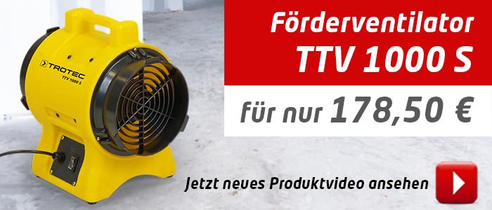 Ventilator TTV 1000 S im Trotec Shop