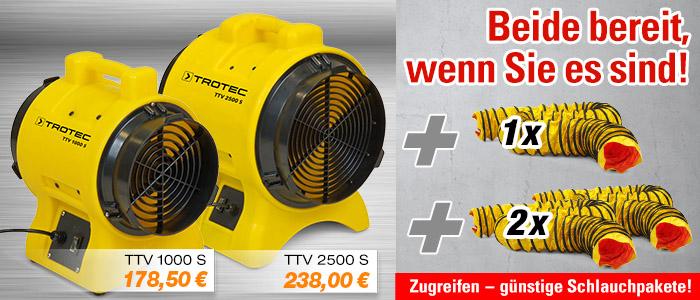 Ventilator Förderventilator TTV 1000 S und TTV 2500 S