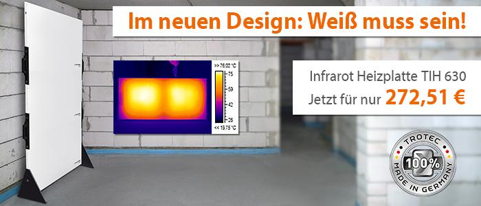 Infrarot Heizplatte TIH 630 im neuen Design