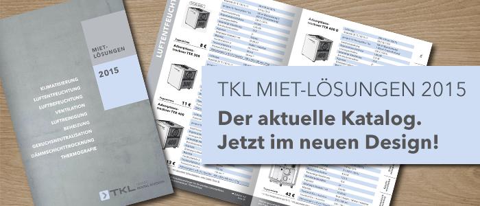 TKL Mietkatalog im neuen Design 2014