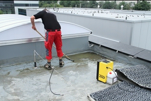 Freimachen der Dachhaut