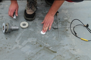 Freilegen des Dämm-Materials