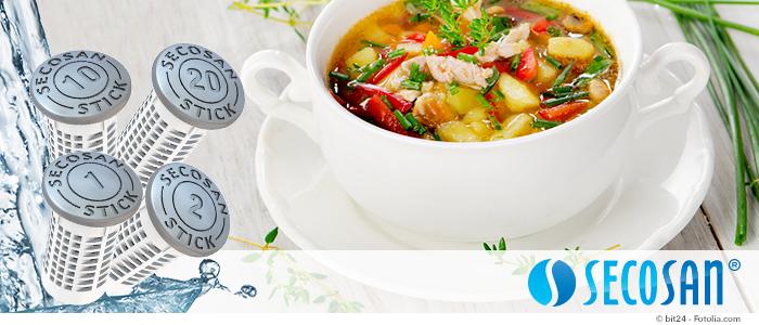 Suppen mit SecoSan-Sticks