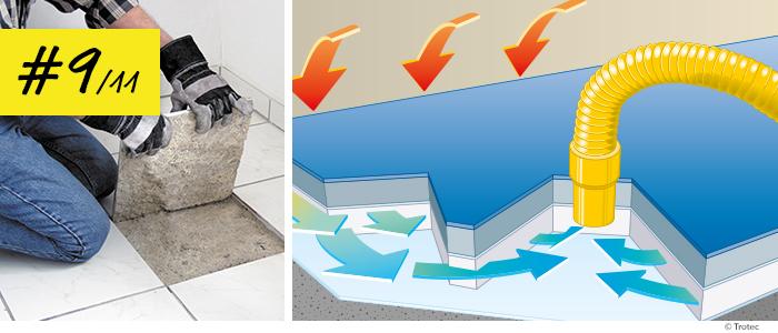 Turbo Wasserschaden – Estrichdämmschichten richtig trocknen – Trotec Blog BM05