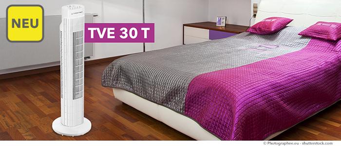 neu turmventilator tve 30 t endlich lieferbar. Black Bedroom Furniture Sets. Home Design Ideas