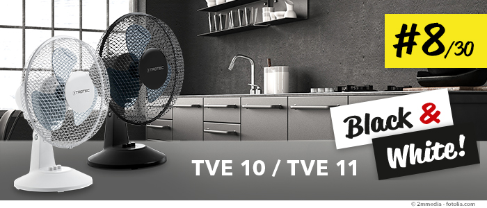 trotec tipps gegen hitze die tischventilatoren tve 10 und tve 11. Black Bedroom Furniture Sets. Home Design Ideas