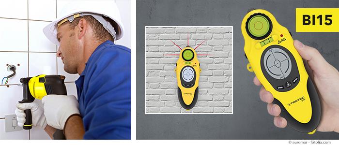 Bevorzugt Vorsicht beim Bohren in Wände – DIN-Norm und Wallscanner helfen NO38