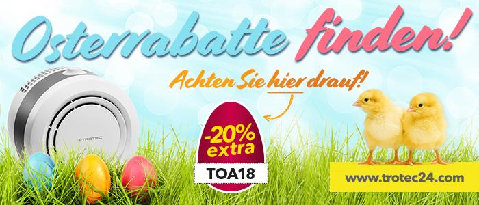 """1b07b24e33e075 ... Online-Shop www.trotec24.com. Hier ein weiterer Tipp zu einem  versteckten Osterrabatt  Schauen Sie doch mal in die Kategorie  """"Luftreiniger"""" rein."""