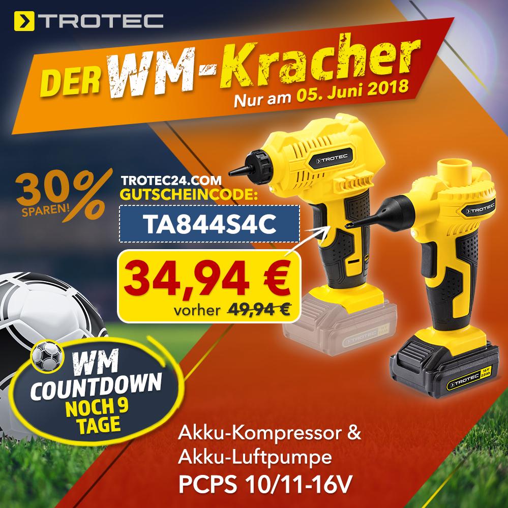 unser 2. wm-angebot: akku-kompressor und -luftpumpe pcps 10/11-16v