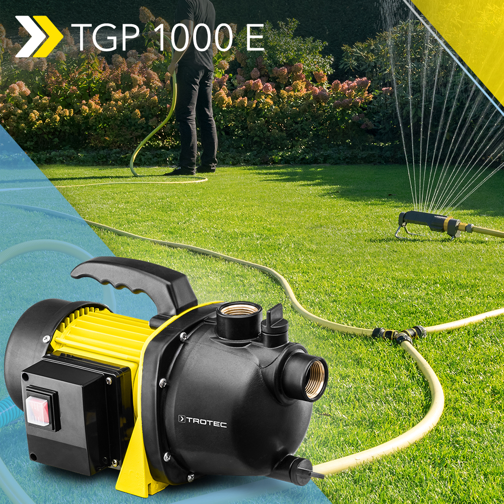 Neu Gartenpumpe Tgp 1000 E Fordert Bis Zu 3 300 Liter Brauchwasser Pro Stunde Trotec Blog