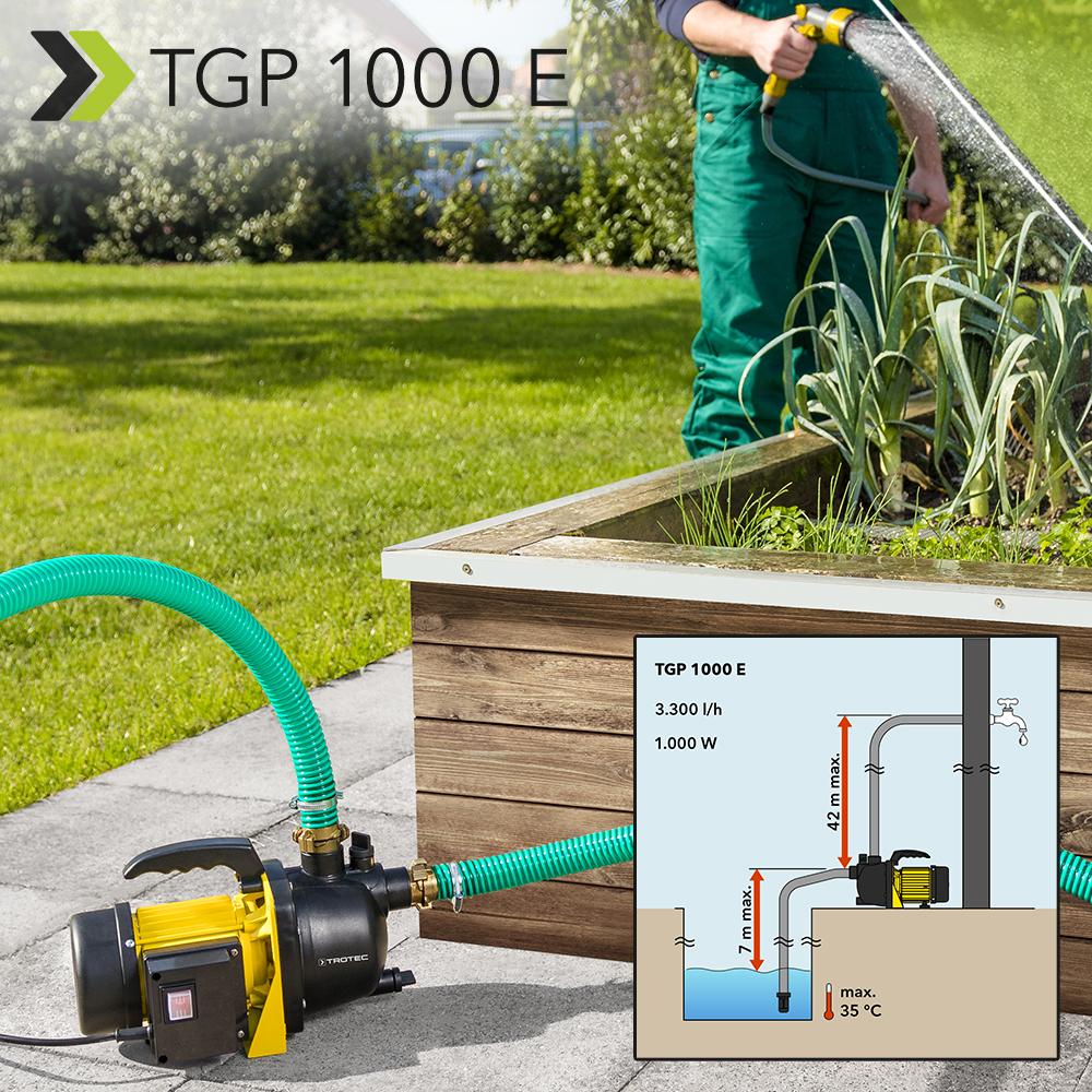Gartenpumpe Tgp 1000 E Fordert Mit 1 000 Watt Bis Zu 3 300 Liter H Brauchwasser Trotec Blog