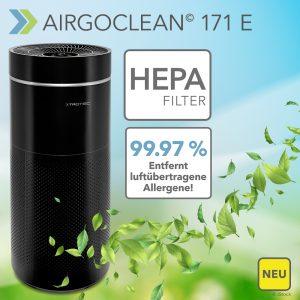 NEU Design-Luftreiniger AirgoClean® 171 E – reduziert Infektionsrisiken dank Filterung von bis zu 99,97 % aller Schadstoffe aus der Raumluft