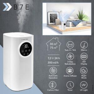 Ultraschall-Luftbefeuchter B 7 E: reduziert Infektionsrisiken und Atemwegserkrankungen im Herbst und Winter – endlich lieferbar