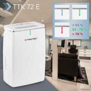 Komfort-Luftentfeuchter TTK 72 E: zuverlässige Trockenhaltung großer Wohn- und Büroräume auch bei feuchtem Herbstwetter – wieder verfügbar!